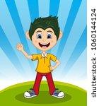 handsome little boy with...   Shutterstock . vector #1060144124