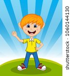 handsome little boy with...   Shutterstock . vector #1060144130