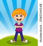 handsome little boy with...   Shutterstock . vector #1060144148