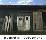 reclaimed wood barn with... | Shutterstock . vector #1060144943