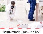 forensics investigator at the... | Shutterstock . vector #1060145129