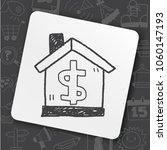 house money doodle | Shutterstock .eps vector #1060147193