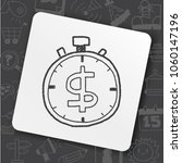 time is money doodle | Shutterstock .eps vector #1060147196