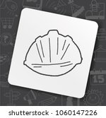 construction hat doodle | Shutterstock .eps vector #1060147226