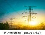sun setting behind the... | Shutterstock . vector #1060147694