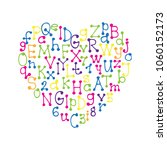 heart frame with colorful hand... | Shutterstock .eps vector #1060152173