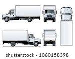 vector truck template isolated... | Shutterstock .eps vector #1060158398