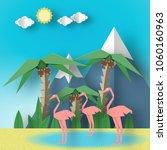 paper origami concept landscape ... | Shutterstock .eps vector #1060160963