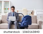 businessman looking after... | Shutterstock . vector #1060163840