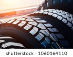 clean new modern truck tire.... | Shutterstock . vector #1060164110