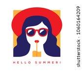 hello summer card  banner or... | Shutterstock .eps vector #1060164209