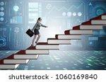 businesswoman student climbing...   Shutterstock . vector #1060169840