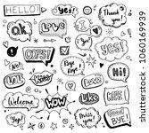 hand drawn set of speech... | Shutterstock .eps vector #1060169939