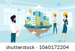 group architects create and... | Shutterstock .eps vector #1060172204