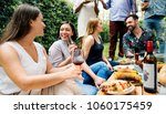 group of diverse friends... | Shutterstock . vector #1060175459