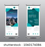 roll up banner standee business ... | Shutterstock .eps vector #1060176086