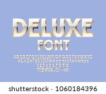 vector white and gold deluxe... | Shutterstock .eps vector #1060184396