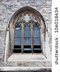 An Old Church Window Showing...