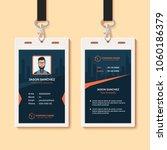 multipurpose office id card... | Shutterstock .eps vector #1060186379