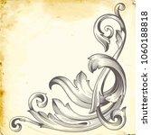 retro baroque decorations...   Shutterstock .eps vector #1060188818