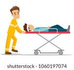 caucasian white emergency... | Shutterstock .eps vector #1060197074