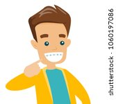 young happy caucasian white man ... | Shutterstock .eps vector #1060197086