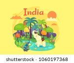 indian nature poster devoted to ... | Shutterstock .eps vector #1060197368