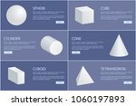 sphere cube cylinder cone... | Shutterstock .eps vector #1060197893