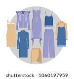 vogue clothes set  color card ... | Shutterstock .eps vector #1060197959