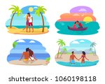couples collection seaside ...   Shutterstock .eps vector #1060198118