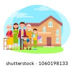 family and building poster ... | Shutterstock .eps vector #1060198133