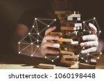 organization ideas concept with ...   Shutterstock . vector #1060198448