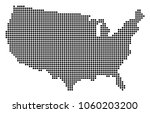 dotted usa map. vector collage... | Shutterstock .eps vector #1060203200