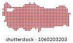 dotted turkey map. vector... | Shutterstock .eps vector #1060203203