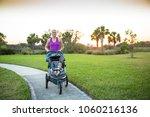 beautiful  fit woman walking...   Shutterstock . vector #1060216136