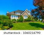 big custom made luxury house... | Shutterstock . vector #1060216790