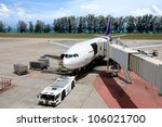 Постер, плакат: Parked aircraft parked in