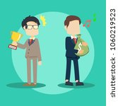 businessman with money and... | Shutterstock .eps vector #1060219523