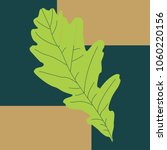 the vector image of a green oak ... | Shutterstock .eps vector #1060220156