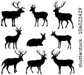 deer collection   vector... | Shutterstock .eps vector #106022429