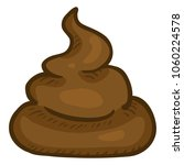 vector cartoon brown poop.... | Shutterstock .eps vector #1060224578