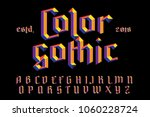 color gothic alphabet. bright... | Shutterstock .eps vector #1060228724