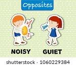 opposite words for noisy and...   Shutterstock .eps vector #1060229384