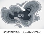 3d effect of cut paper. white ... | Shutterstock .eps vector #1060229960