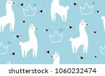 lovely llamas  cute hipster... | Shutterstock .eps vector #1060232474