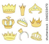 golden crowns set of colored...   Shutterstock .eps vector #1060233470