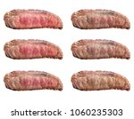 raw steaks frying degrees  rare ... | Shutterstock . vector #1060235303