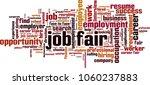 job fair word cloud concept.... | Shutterstock .eps vector #1060237883