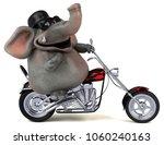fun elephant   3d illustration | Shutterstock . vector #1060240163