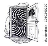 open door into a realm of...   Shutterstock .eps vector #1060240220